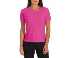 5 PEÇAS - Camiseta Feminina Dry Fit Rosa Pink
