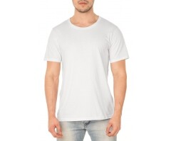 VENDA UNITÁRIA - Camiseta de Algodão 30.1 Open End Branca