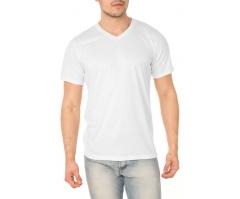 VENDA UNITÁRIA - Camiseta de Poliéster / Sublimática Branca - GOLA V
