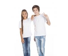 KIT 10 peças - Camiseta Juvenil de Poliéster / Sublimática Branca