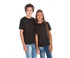 KIT 10 peças - Camiseta Juvenil de Poliéster / Sublimática Preta