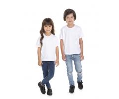 VENDA UNITÁRIA - Camiseta Infantil de Poliéster / Sublimática Branca
