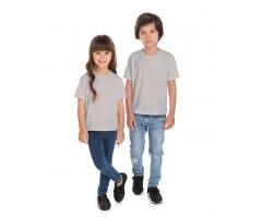 VENDA UNITÁRIA - Camiseta Infantil de Poliéster / Sublimática Cinza Claro