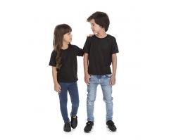VENDA UNITÁRIA - Camiseta Infantil de Poliéster / Sublimática Preta