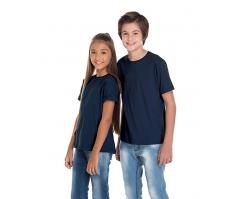VENDA UNITÁRIA - Camiseta Juvenil de Algodão 30.1 Penteado Azul Marinho