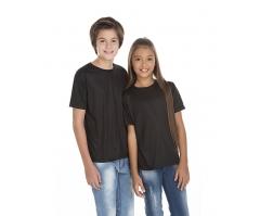 VENDA UNITÁRIA - Camiseta Juvenil de Poliéster / Sublimática Preta