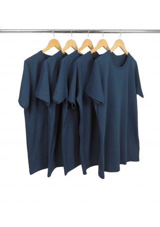 5 PEÇAS - Camiseta Comfort Mescla Navy