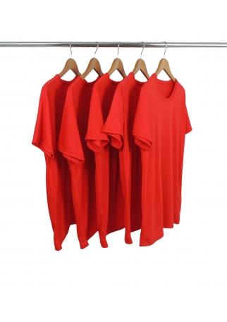 5 PEÇAS -  Camiseta PV / Malha Fria Vermelha