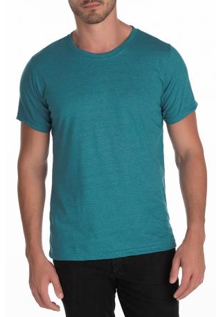 5 PEÇAS - Camiseta Comfort Mescla Jade