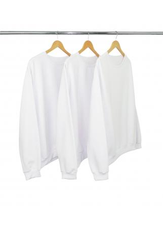 Kit 3 Blusões de Moletom Branco