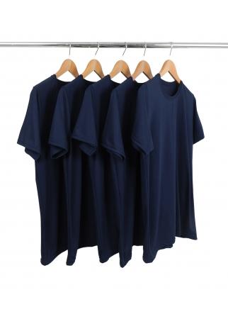 KIT 5 Camisetas de Poliéster/Sublimática Azul Marinho