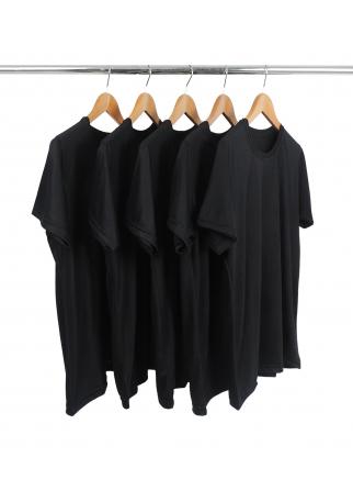 KIT 5 Camisetas de Poliéster/Sublimática Preta