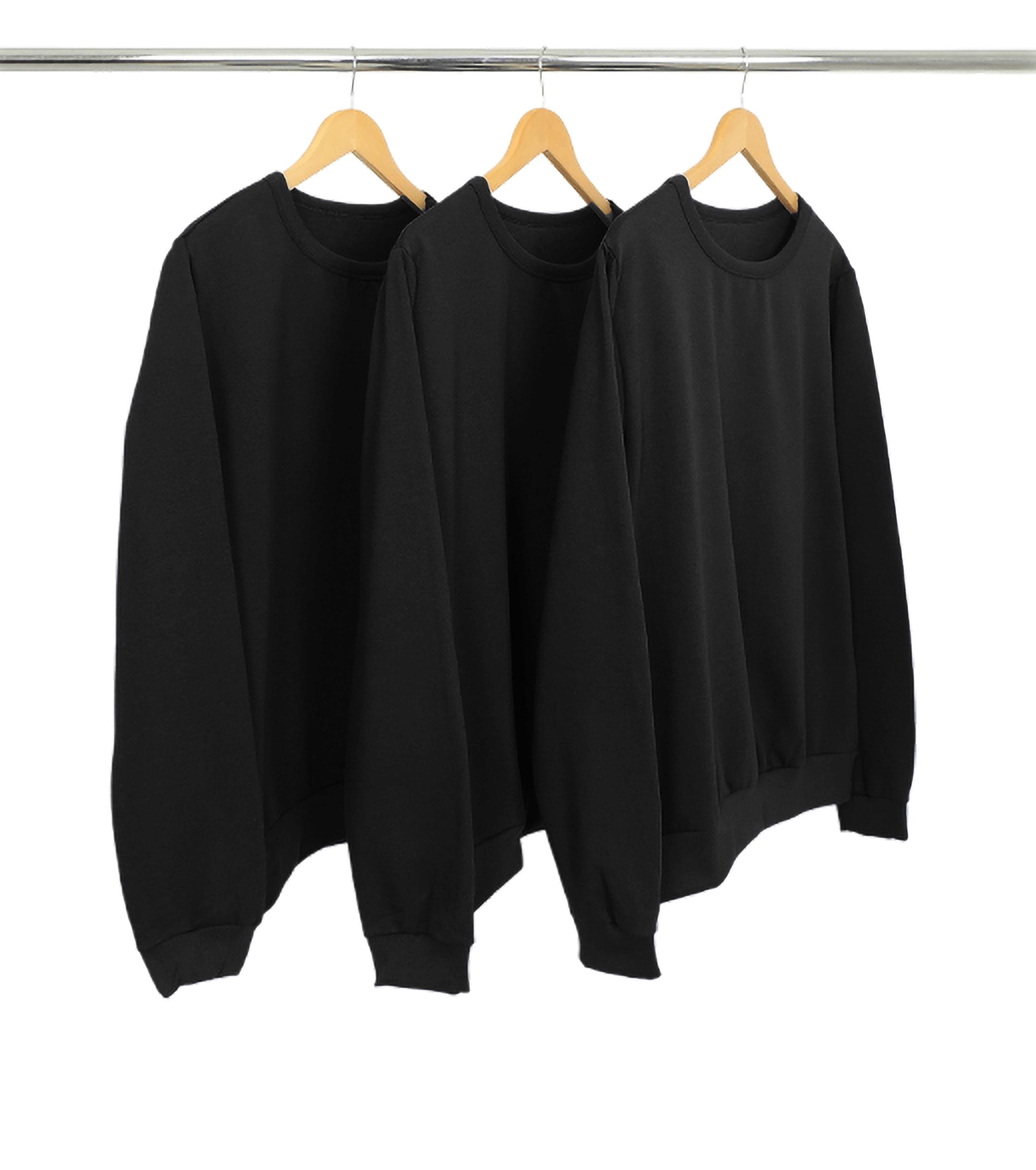 Kit 3 Blusões de Moletom Preto
