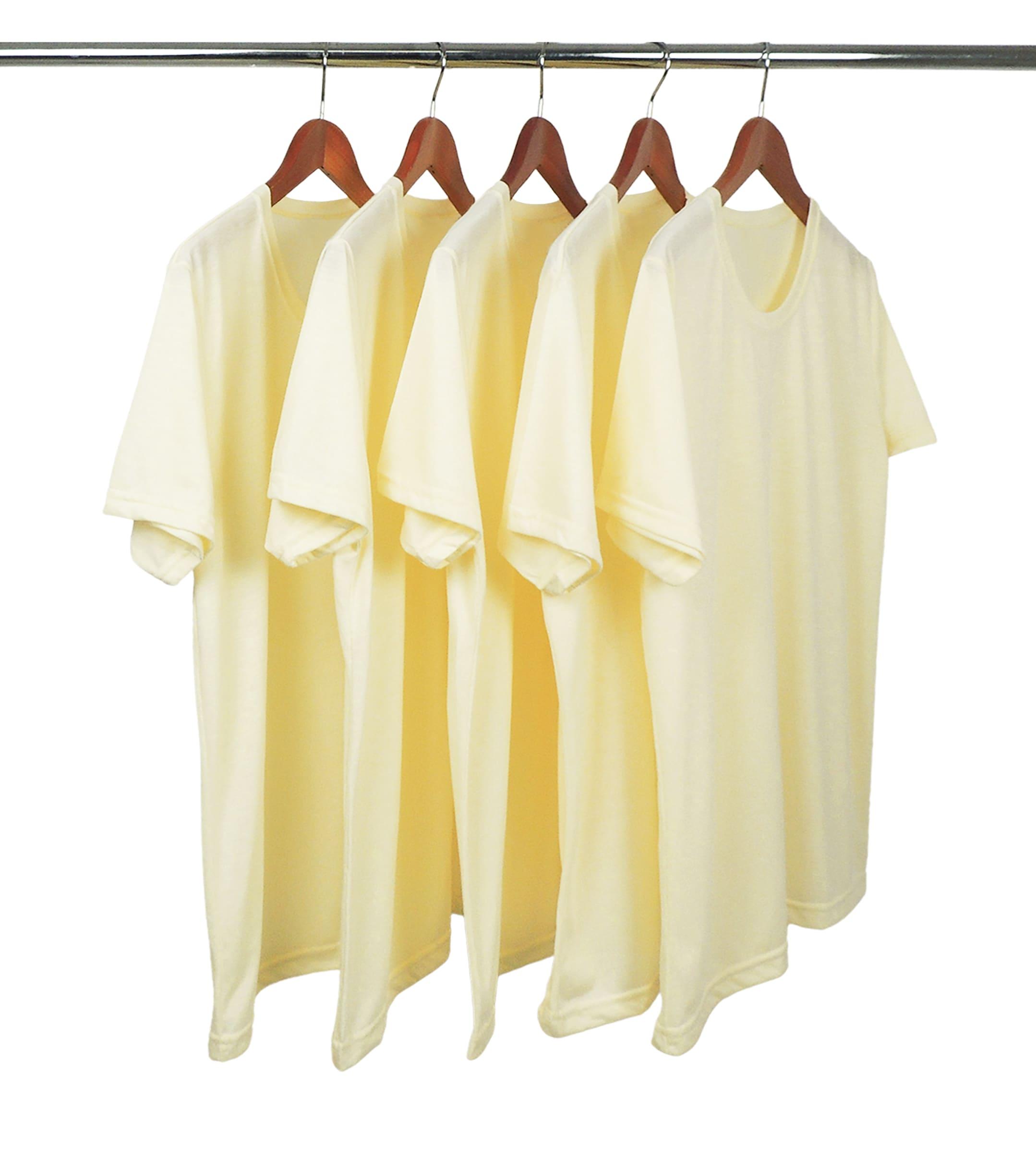 KIT 5 Camisetas de Poliéster/Sublimática Amarelo Bebê