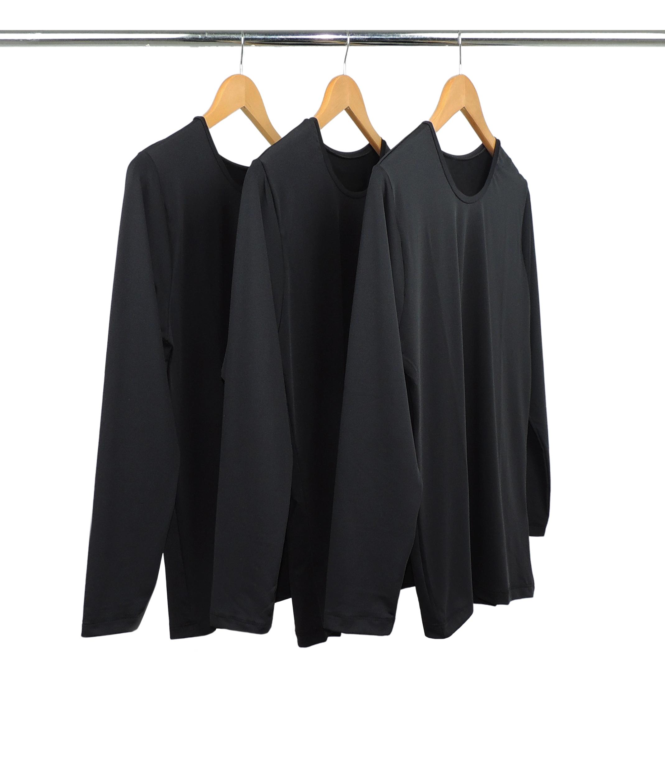 Kit 5 Camisetas Segunda Pele Manga Longa Masculina Preta UV 50+