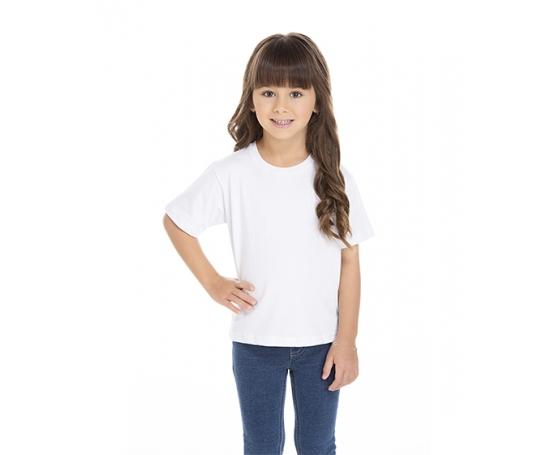 5 PEÇAS - Camiseta Infantil de Algodão Penteado Branca