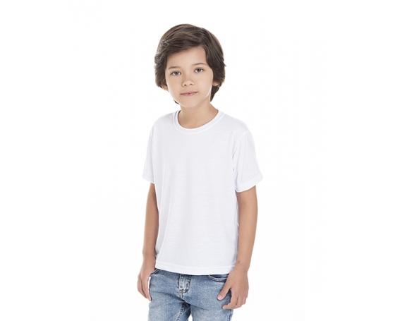 Camiseta Infantil de Poliéster / Sublimática Branca
