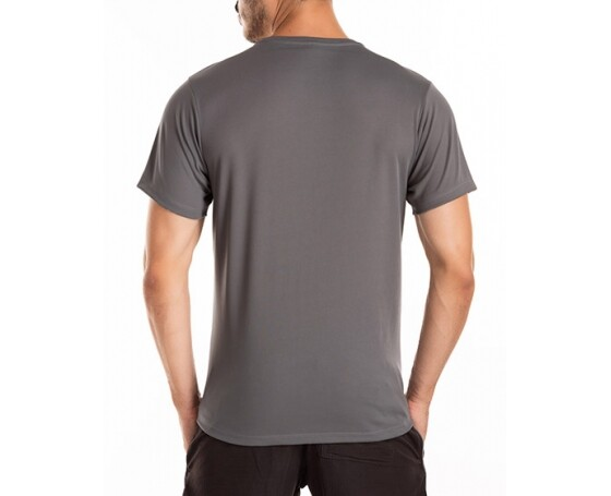 Camiseta Dry Fit Cinza Chumbo