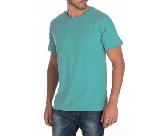 5 PEÇAS - Camiseta Comfort Mescla Verde Menta