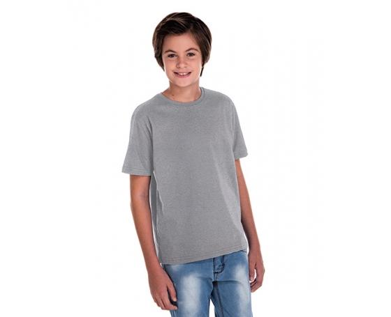 5 PEÇAS - Camiseta Juvenil de Poliéster / Sublimática Cinza Mescla