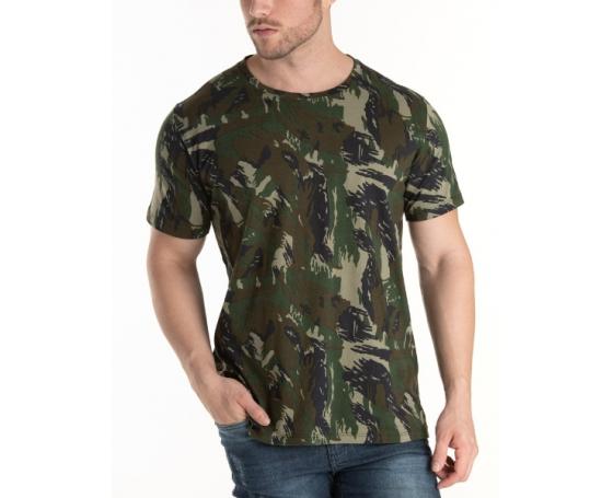 Kit 5 Peças - Camiseta Camuflada Marinha